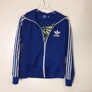 Adidas Three Stripe Track Zip Up Jacket L